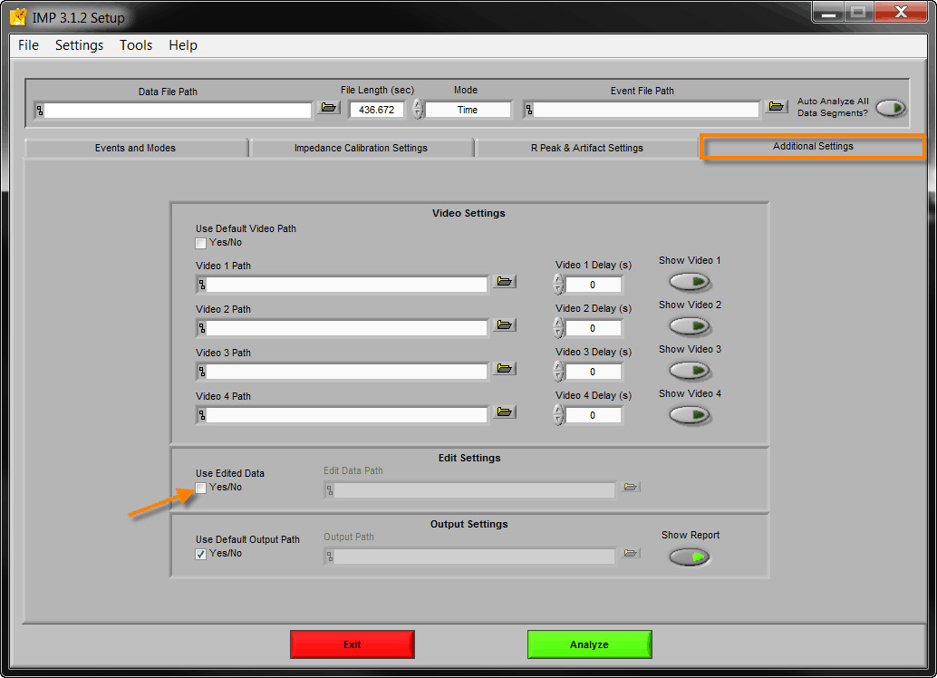 KB0018: Loading edited HRV data into the Impedance