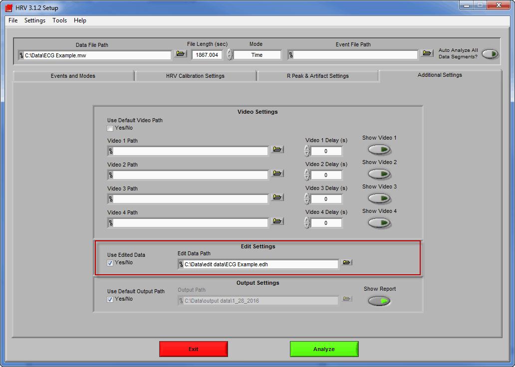 Edit File Mapped