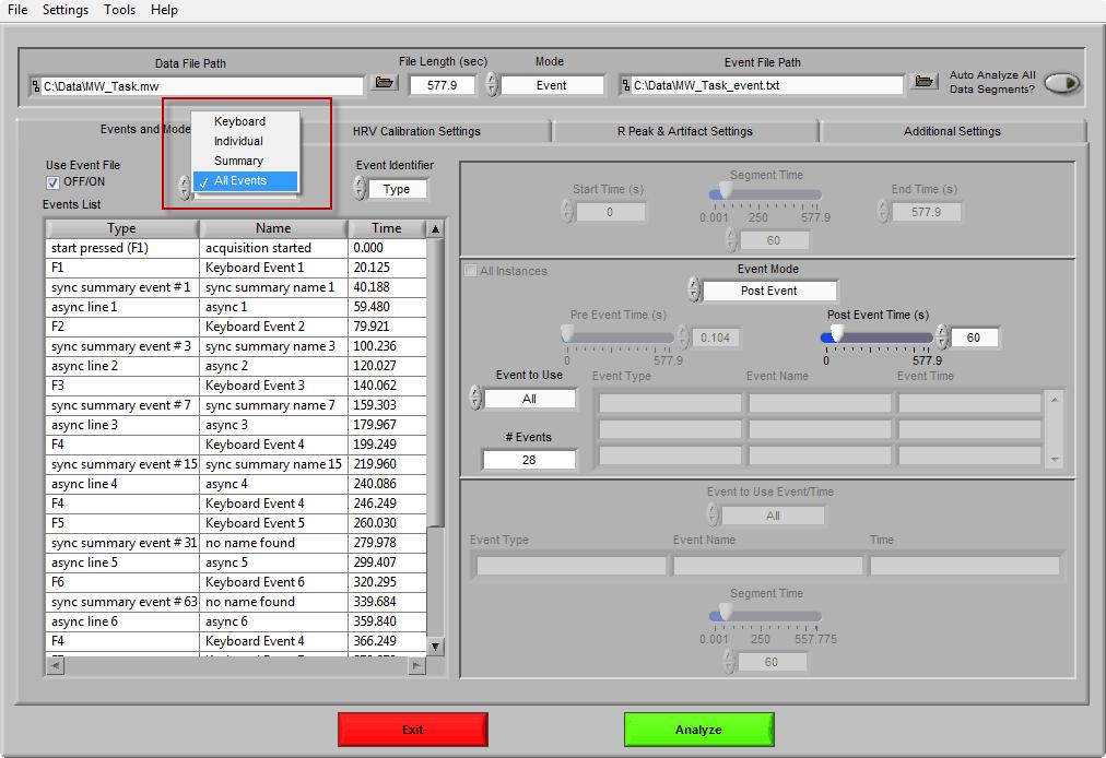 Event Filter