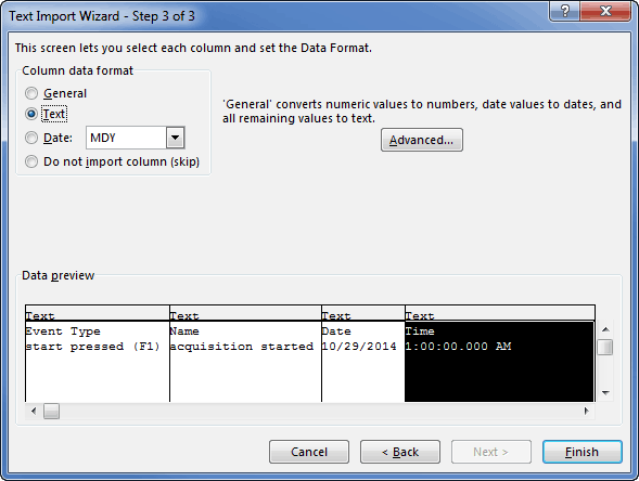 Excel Import 3