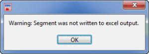 Segment Not Written Error