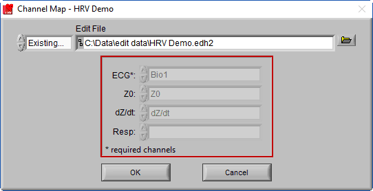 Channel Mapping loaded from Edit File